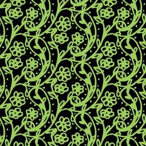 Sweet Paisley Black and Green