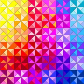 snowcatcher rainbow pinwheel panel