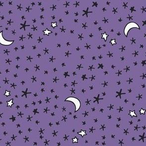 Curses and Spells Stars Black and Purple