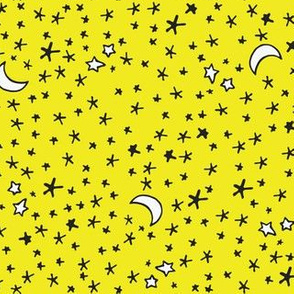 Curses and Spells Stars Black and Yellow