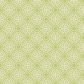 Optical Circles in Celery Green