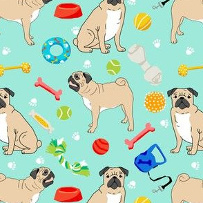 pug pugs dog dog toys cute pet dog fabric for pug owners