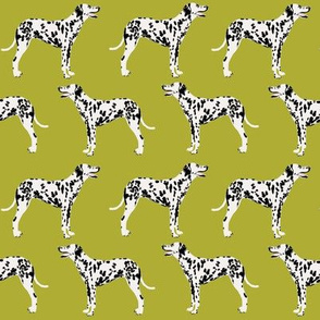 dalmatian dog lime green dogs dog pet dog fabric dalmatians fabric for dalmatian gifts dalmatian owners