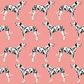 dalmatian dog fabric dalmation pink coral fabric for dalmatian owners cute dog fabric