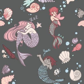 Mermaid Naps - Large Print