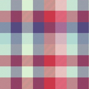 extra-large Madras plaid - spring quilt