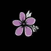 Project 42   Purple Floral Zentangle
