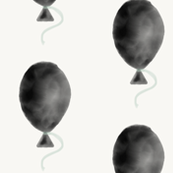 Balloons - watercolor black and mint monochrome kids play || by sunny afternoon