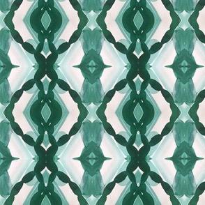 Watercolor Green Tile 1