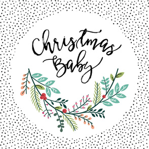 Christmas Baby Wreath Blanket