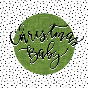Christmas Baby Blanket // Moss Linen