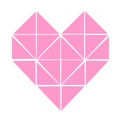 Geometric Heart in Pink