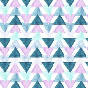 lavender watercolor triangles // small