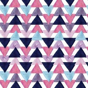 blue lagoon watercolor triangles // small