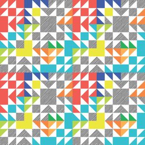 Rainbow Bright Puzzle Wholecloth // small