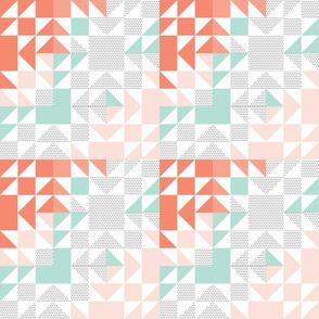 Polka Dot Aqua Puzzle Wholecloth // small