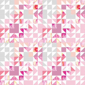 pink starburst puzzle wholecloth // small