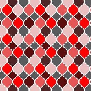 Moroccan Tiles Autumn Reds