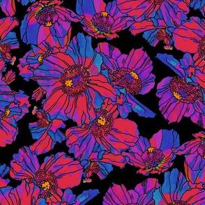 Poppies Purple/Blue