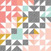 Blush Puzzle Wholecloth // Small