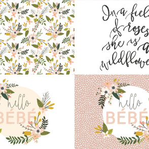 Fat Quarter Bundle // Blush Sprigs and Blooms, Wildflower, Hello Bébé
