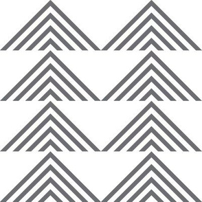 triangles geometric on white