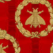 Napoleonic Bees ~ Queen Bee ~  Gilt on Richelieu Moire