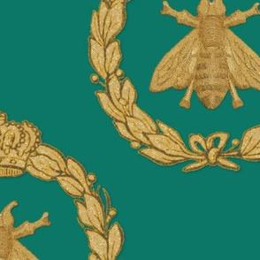 Napoleonic Bees ~ Queen Bee ~  Gilt on Napoleon