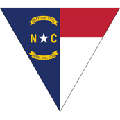 North Carolina Flag bunting