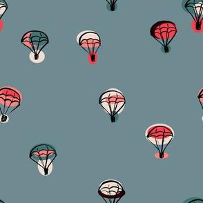 parachutes blue