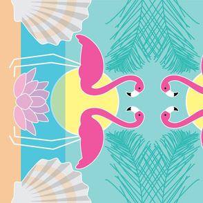 flamingo-tea-towel
