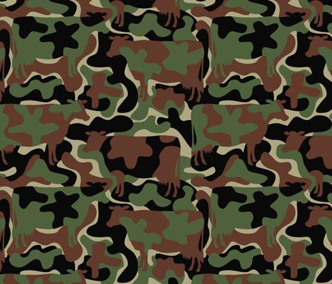 GENUINE COWHIDE caMOOflage