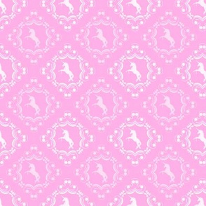Unicorn Damask Princess Pink
