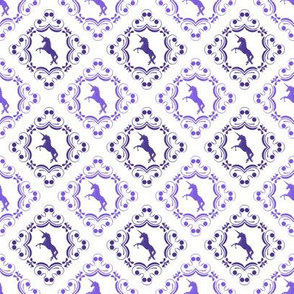 Unicorn Damask Lilac