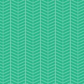 Mint Herringbone Chevron
