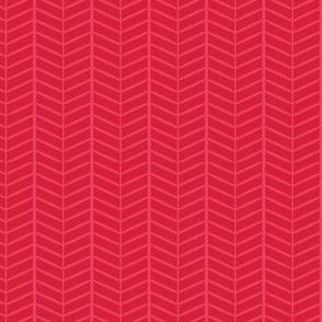 Cherry Herringbone Chevron