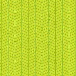 Lime Herringbone Chevron