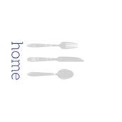 Home + Silverware Tea Towel