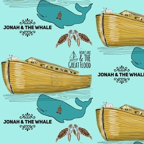Noah's Ark and Jonah in the Whale