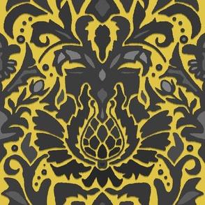 Aya damask gold
