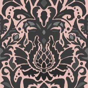 Aya damask pale rose
