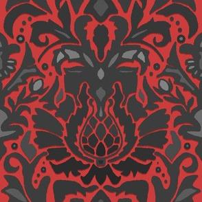 Aya damask red