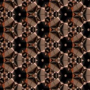 Bronze Copper Black Kaleidoscope