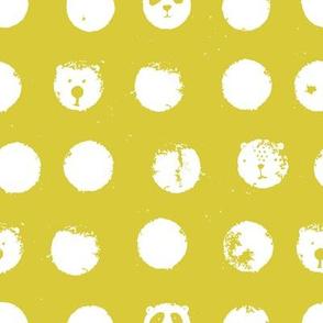 polka dot pandas yellow