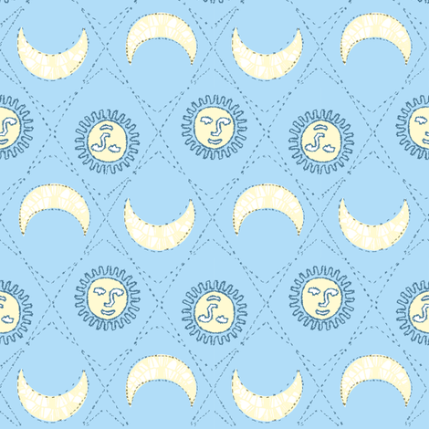 Sun and moon embroidery fabric keweenawchris spoonflower for Sun moon fabric
