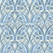 Light blue Art Deco Pattern