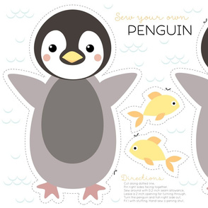 Penguin cut and sew