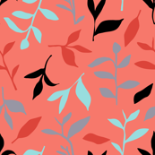 Tea Leaf Scatter (coral)