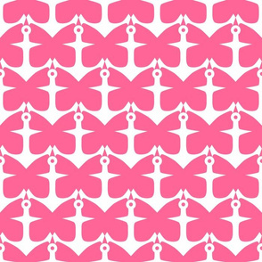 Anchors and Butterflies in Pink