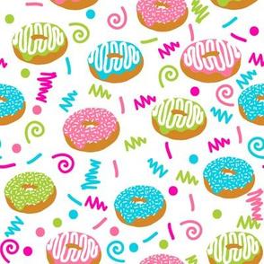 donuts memphis 80s 90s rad bright summer cute food donuts doughnuts